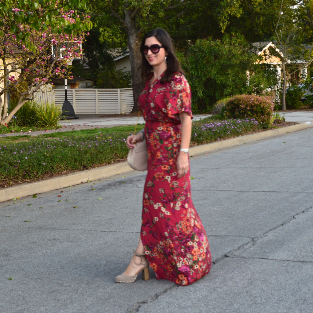 floral maxi dress for spring 2016