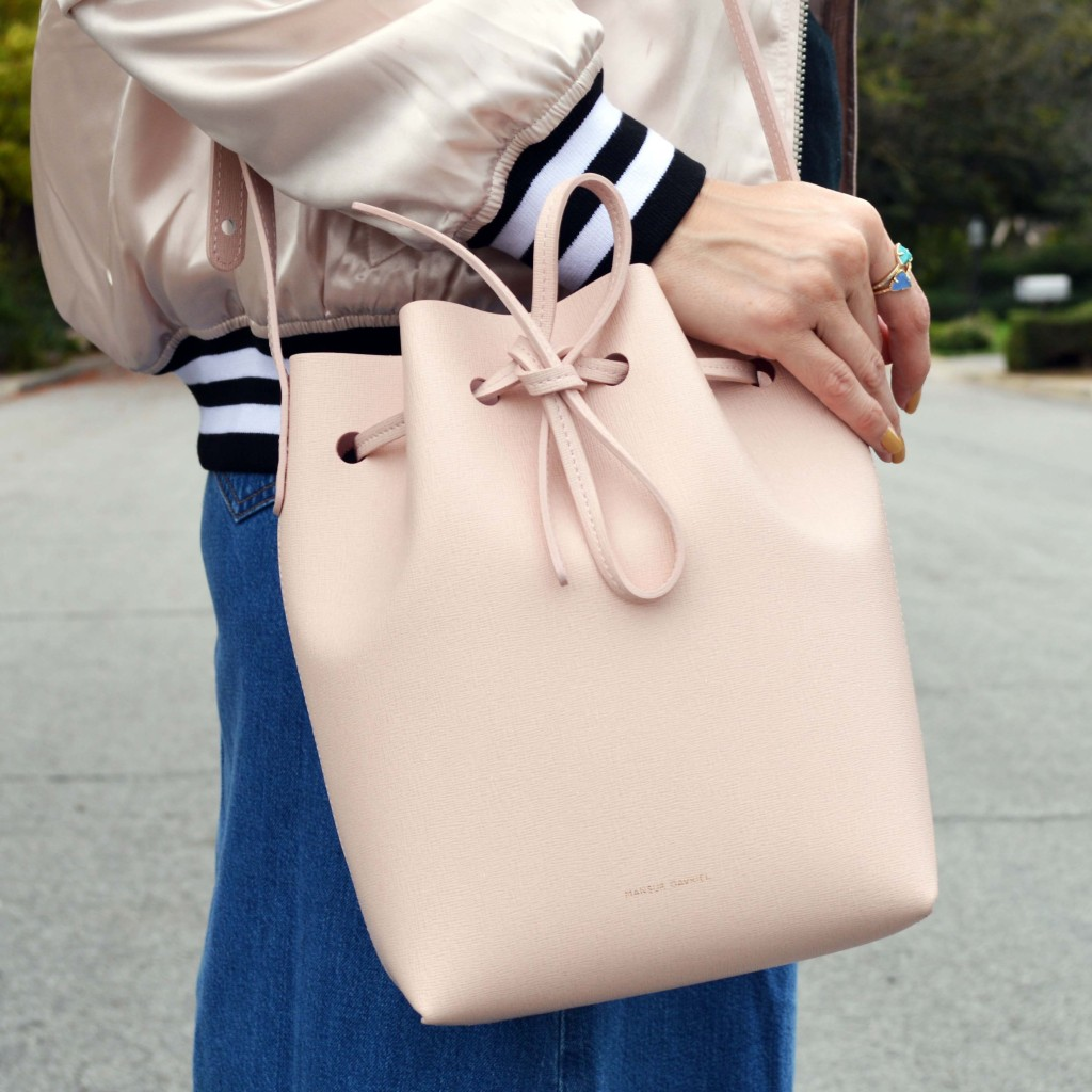 pink mansur gavriel bucket bag 1