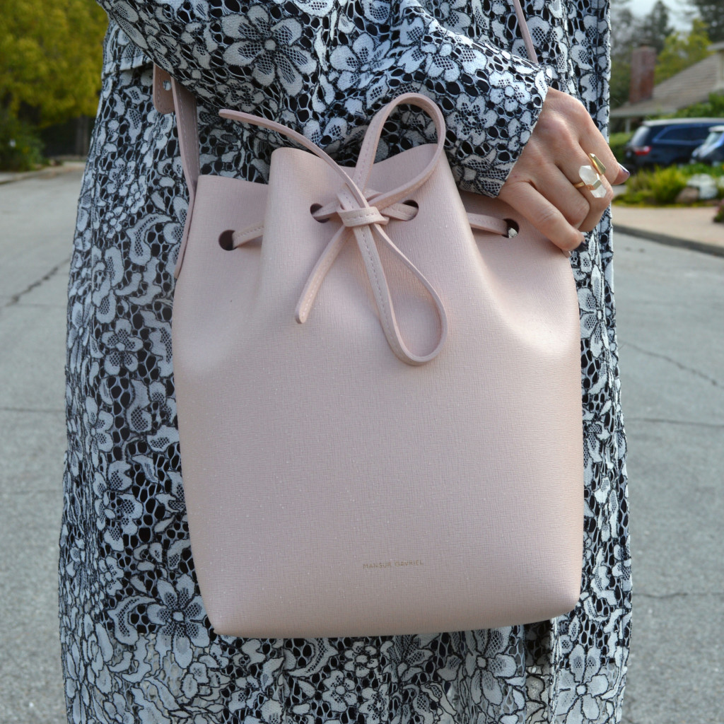 pink mini mansur gavriel bucket bag