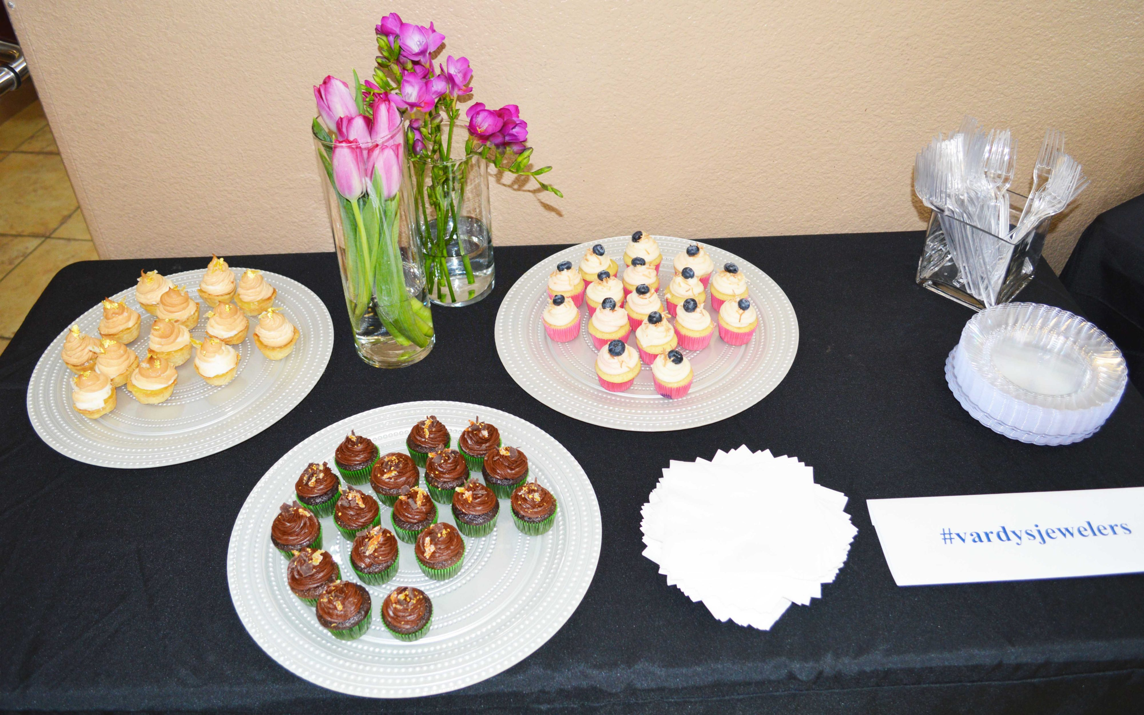 food at vardys 35 anniversary party