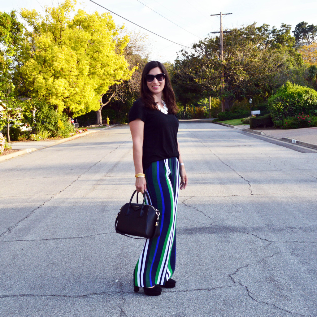 How to style wide leg pants for spring