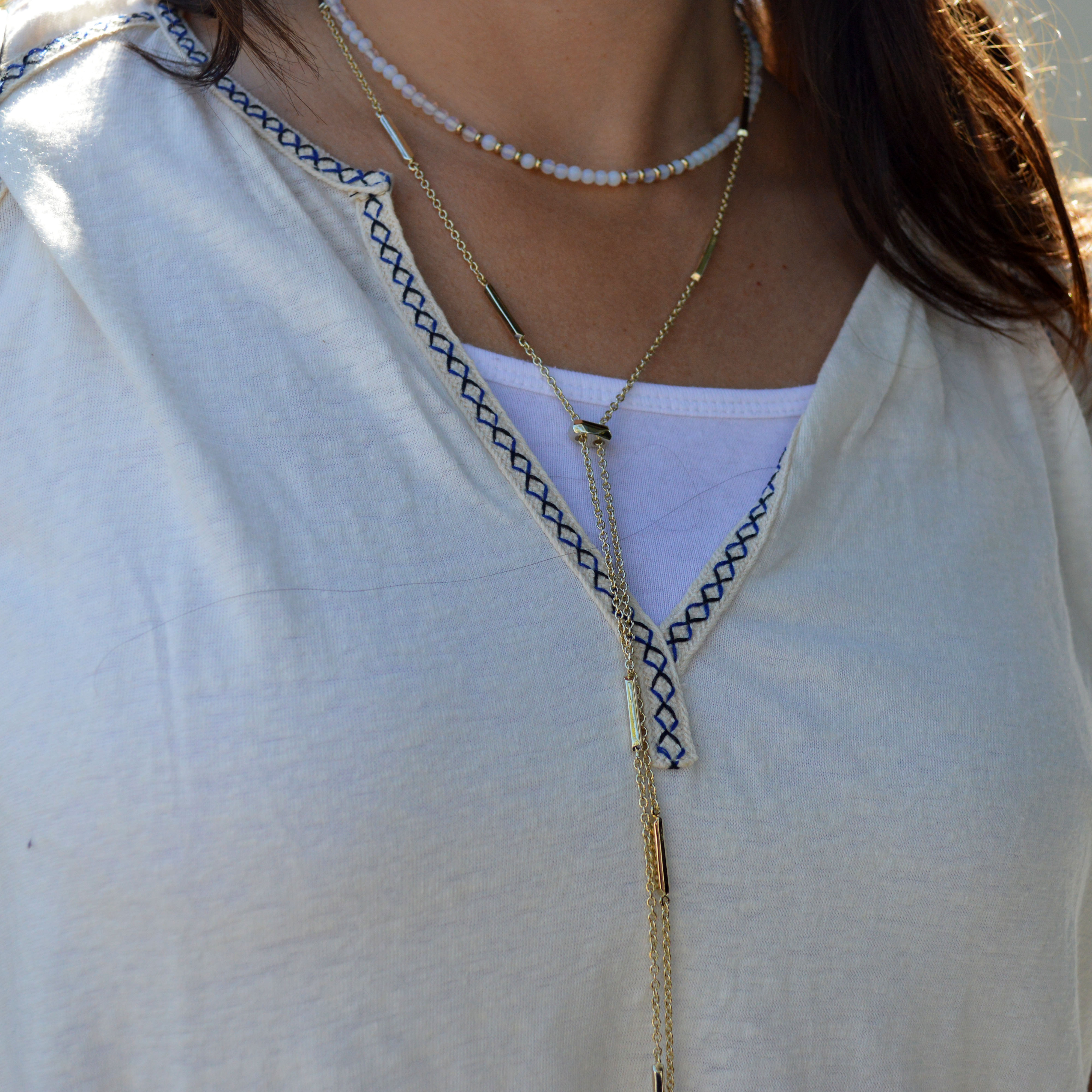 layered summer necklaces