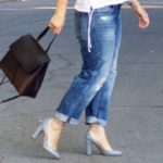 Baggy jeans and Valentino Tango pumps