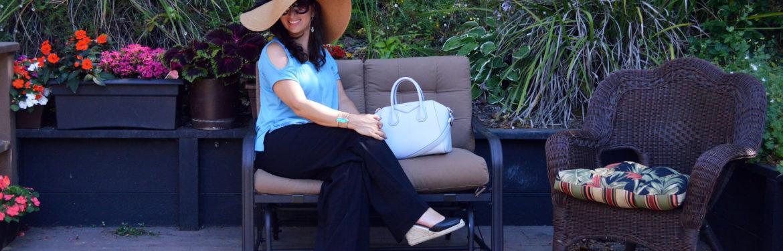 casua; summer garden party outfit idea