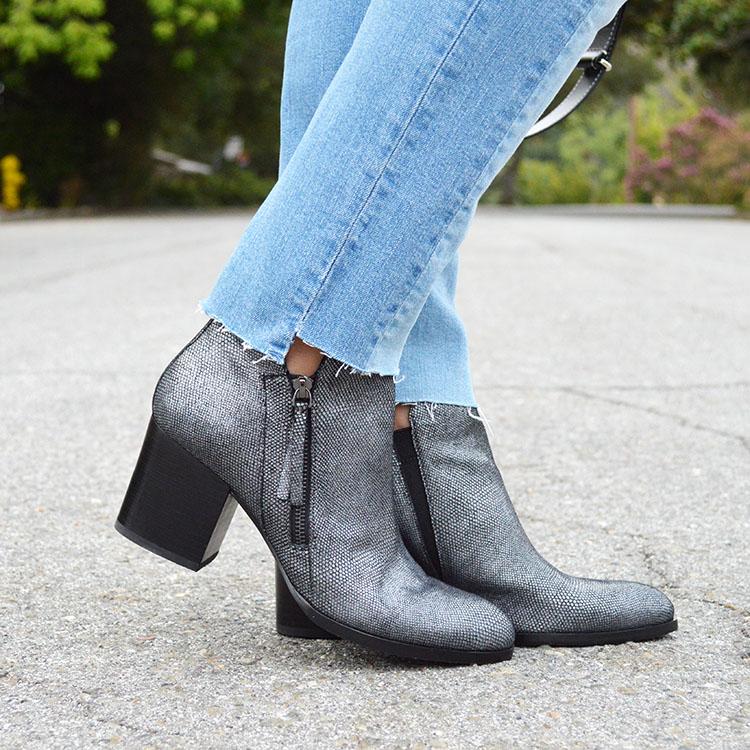 fall metallic booties