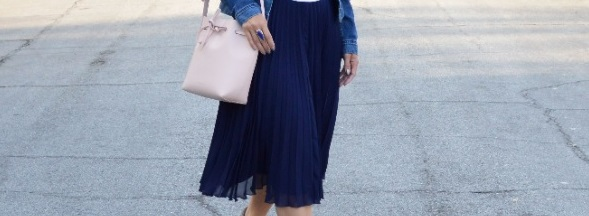 how wear pleated skirt
