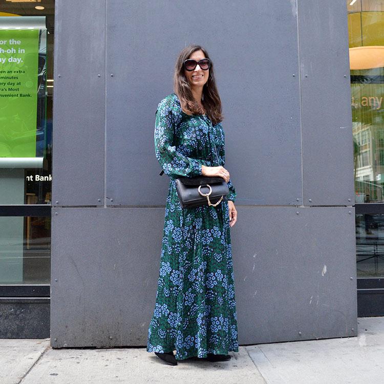 maxi floral dress fall