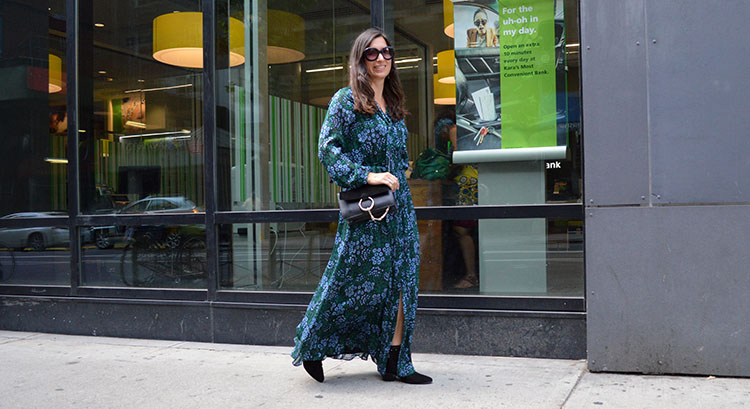 Green fall florals in New York