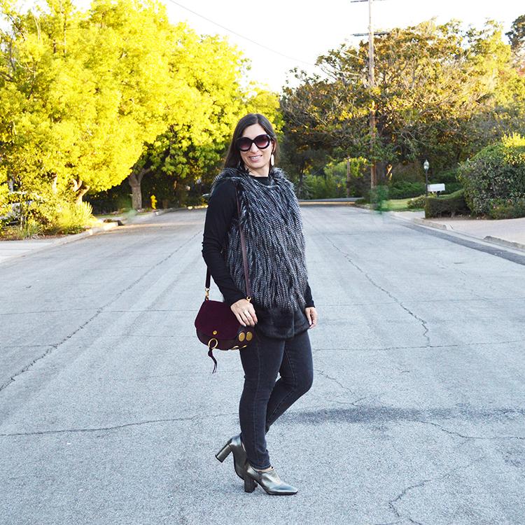 fall faux fur vest on sale
