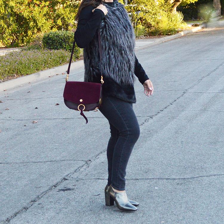 faux fur outfit idea