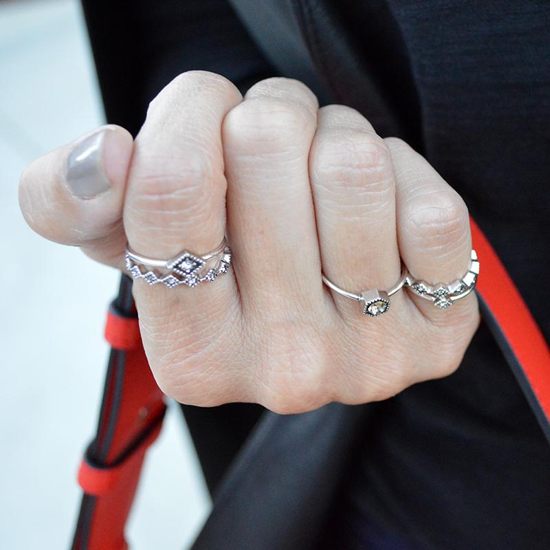 luv aj silver ring set