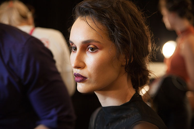 michael costello inglot beauty look nyfw spring 2017