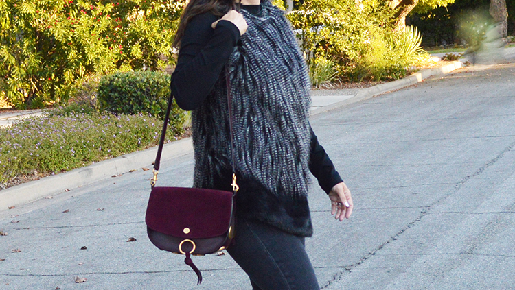 Fall faux fur vest on sale