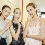 Monique Lhuillier spring 2017 New York Fashion Week runway nails