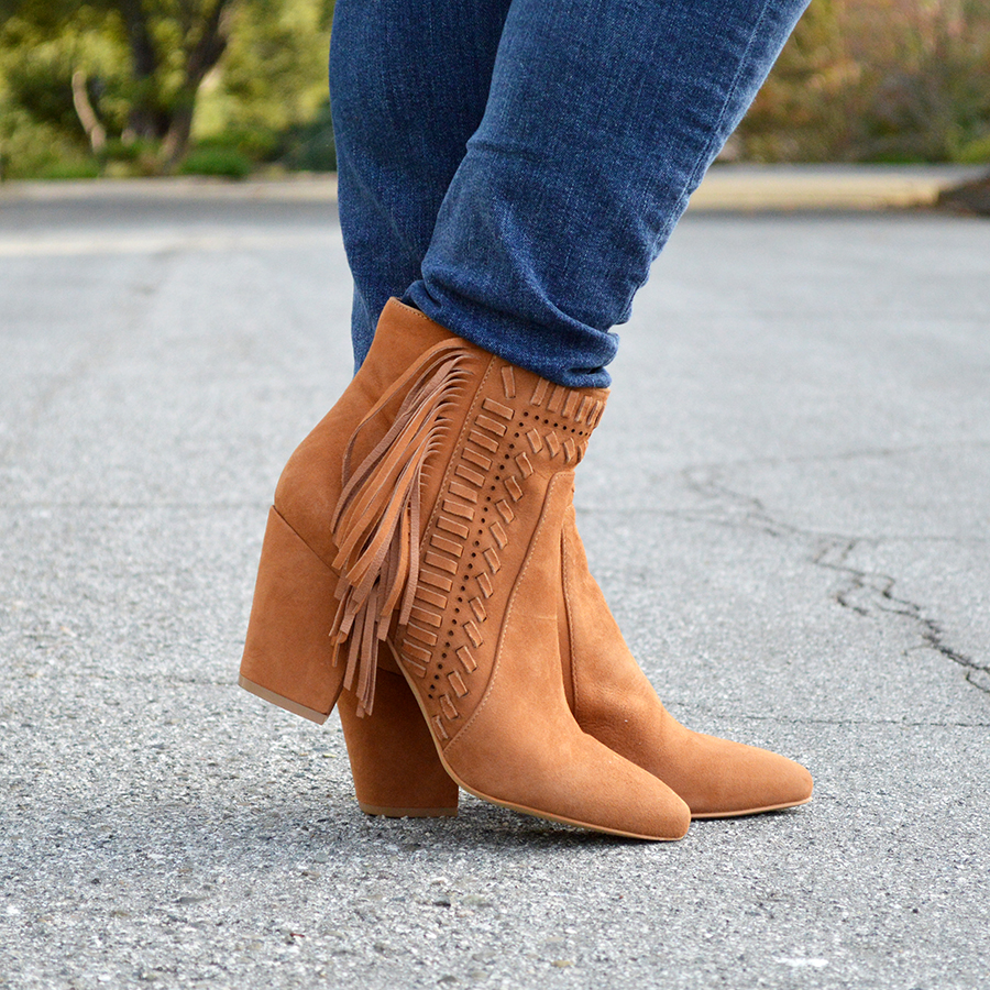 fall fringe booties