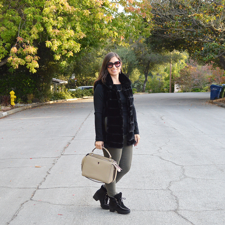 how to style faux fur for fall
