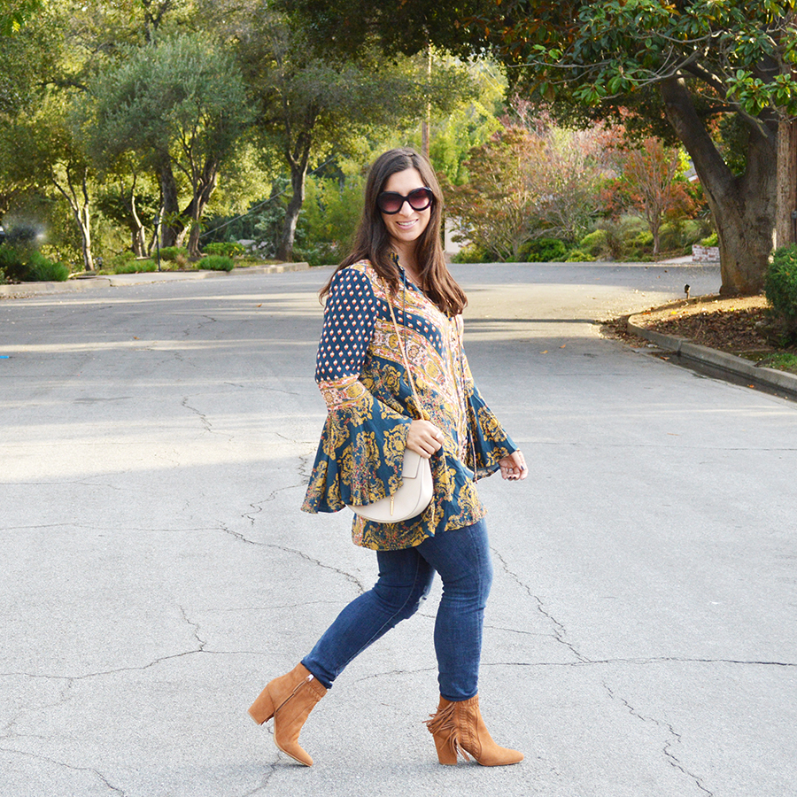 bell sleeves and denim
