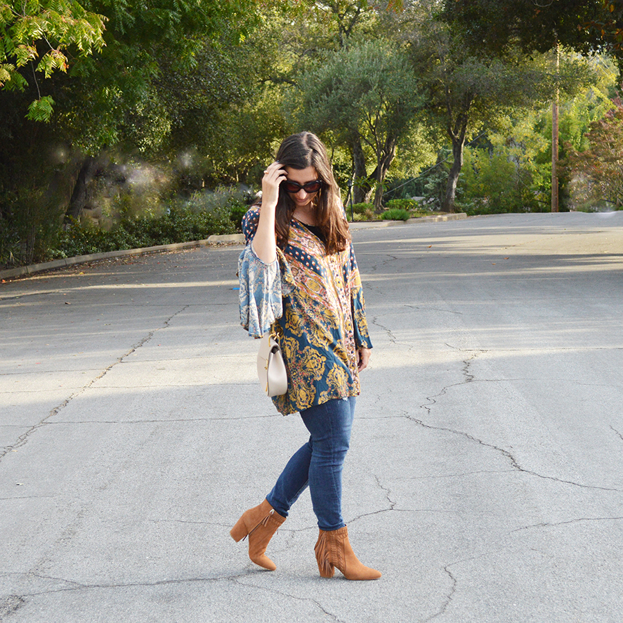how to wear bell sleeves for fall