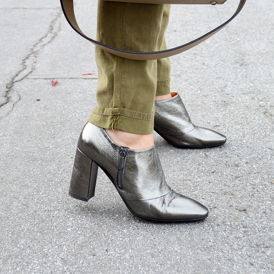 fall metallic booties