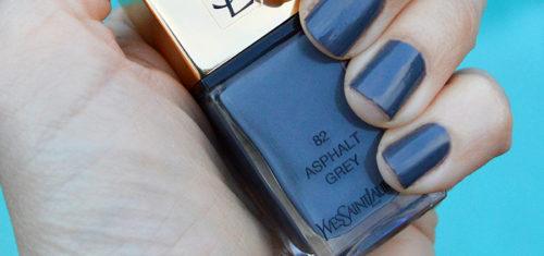 YSL Asphalt Grey nail polish spring 2017 review