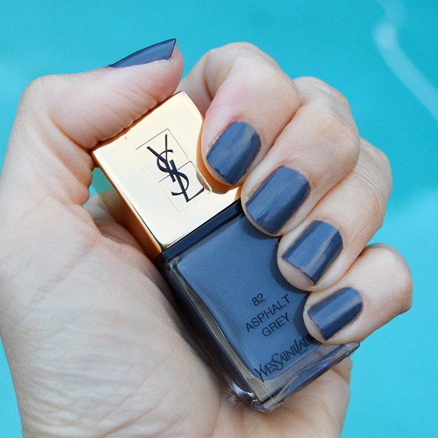 ysl asphalt grey nail polish spring 2017 review yves saint laurent