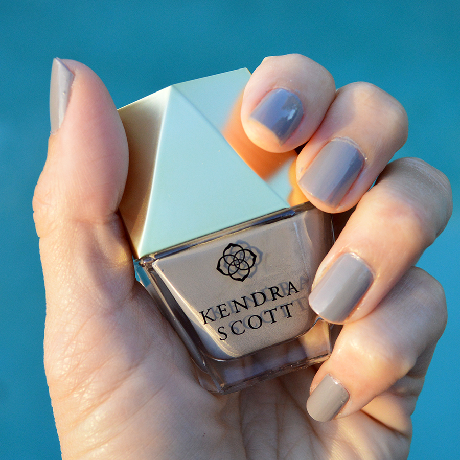 kendra scott slate grey nail polish review swatch