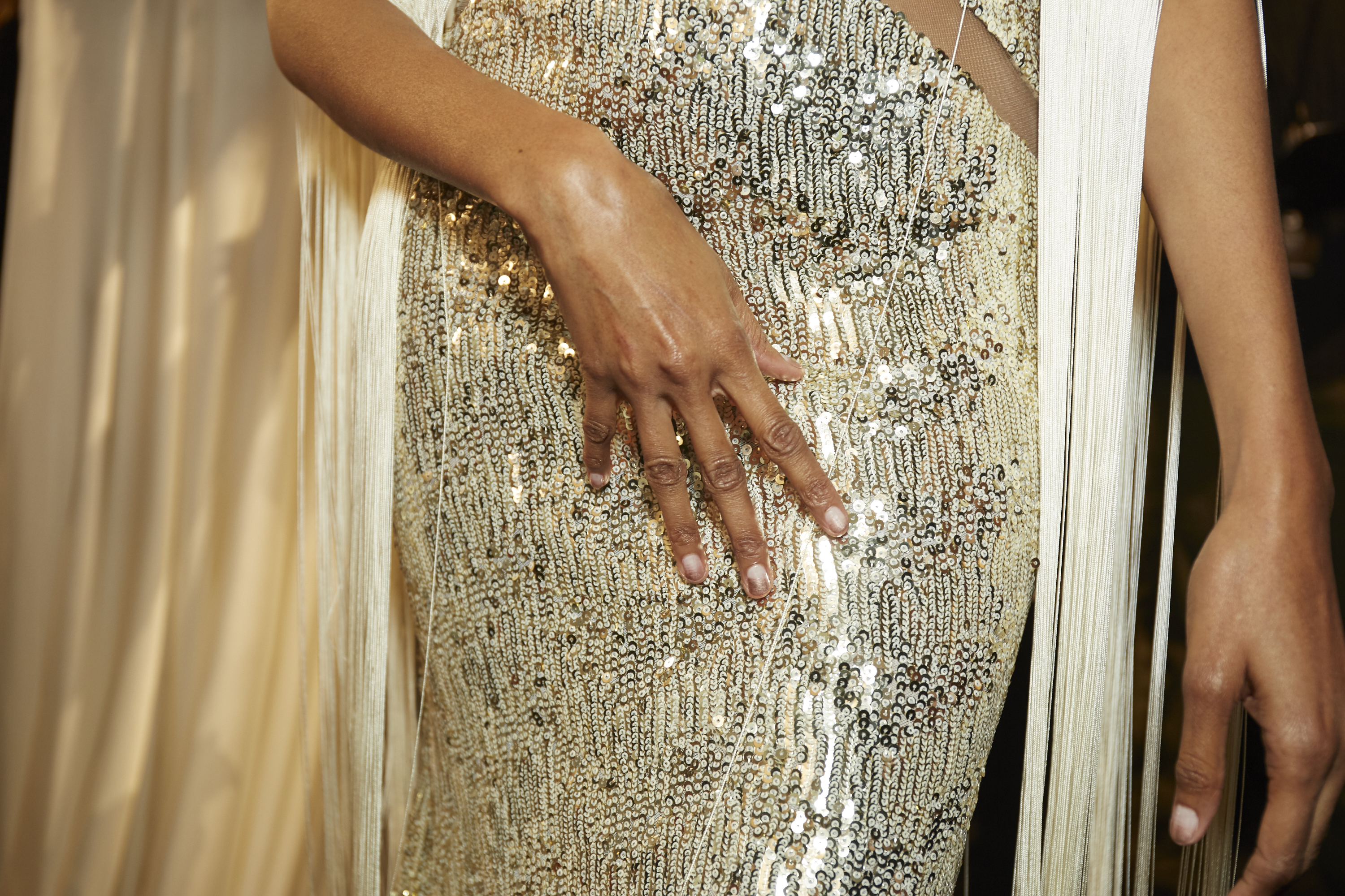 essie at Michael Costello fall 2017 nyfw