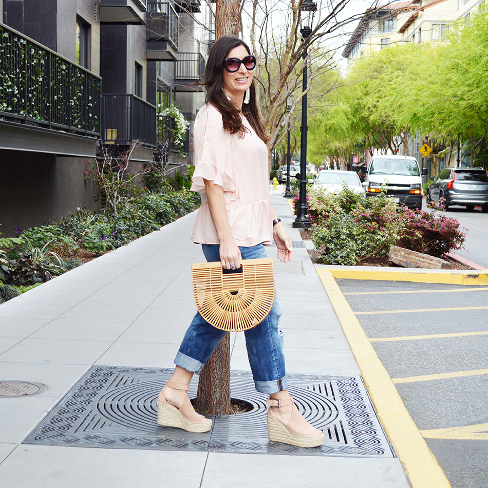 how to wear ruffles with jeans