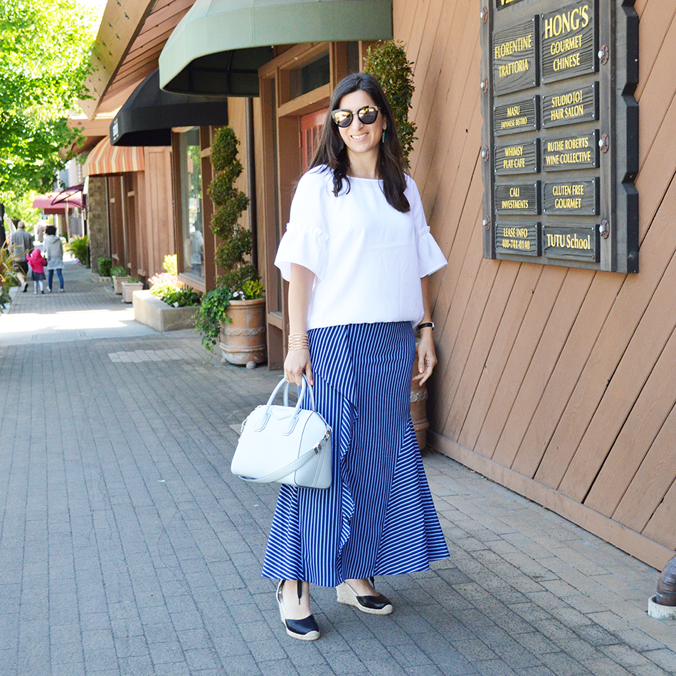 how to wear summer maxi skirt