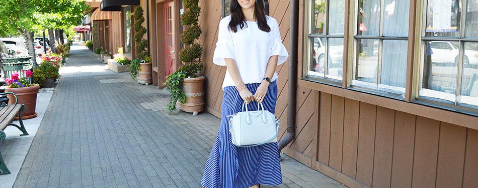 how to wear ruffle skirt