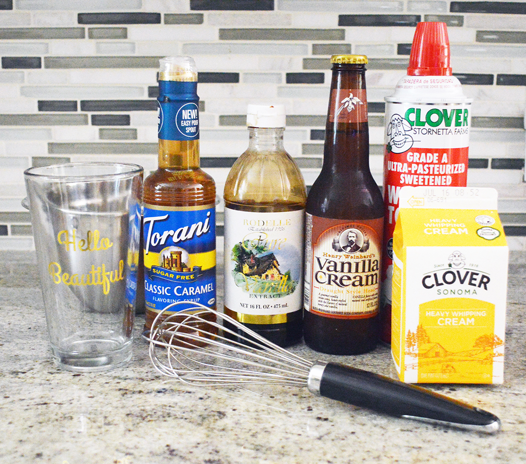 ingredients for making butterbeer at home like universal