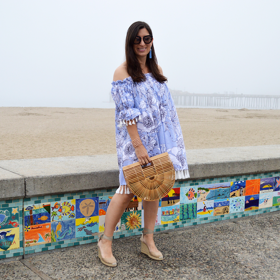 off the shoulder swimsuit cover up for the beach